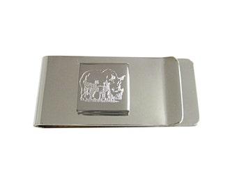 Engraved Rhino Money Clip