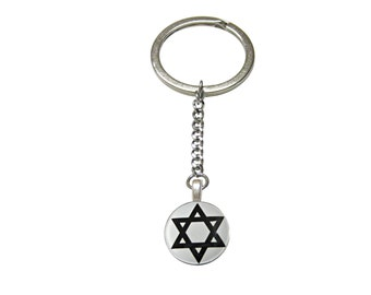 Religious Star of David Pendant Keychain