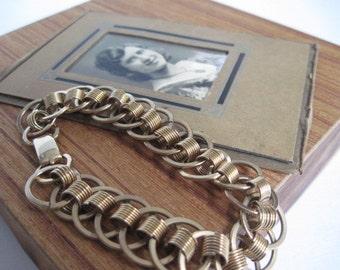 Vintage 1 20 12 KT Gold Filled Link Bracelet