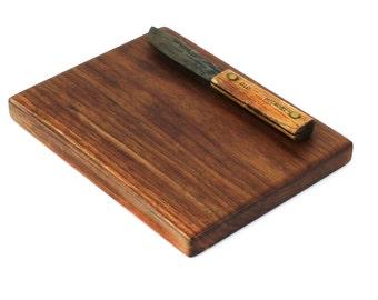 """Solid Slab Walnut Cheese Board - Eco Friendly - Ready to Ship -  10""""x8""""x1"""