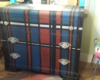 Vintage Upcycled Waterfall Dresser