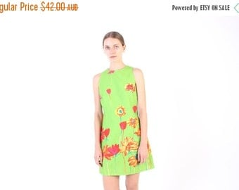 10,000 LIKES 7 Day Sale 90s POP ART Psychedelic Painted Flower Acid Trip Sleeveless Mini Shift Dress