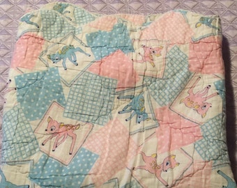 """Vintage Bambi Baby Quilt 31"""" x 39"""""""