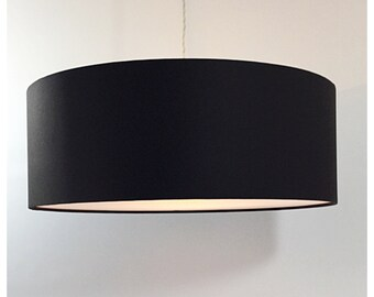 Large Oversized 45cm Drum Brown  Lightshade With Diffuser