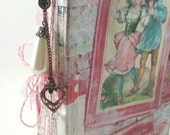 Valentine junk journal. Valentine smash book. Love journal. Romantic journal. Mixed paper journal. Pink and red journal. Valentine's journal