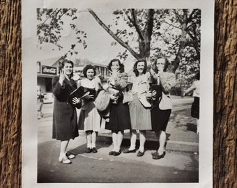 Original Vintage Photograph School Girls, School Days 1948