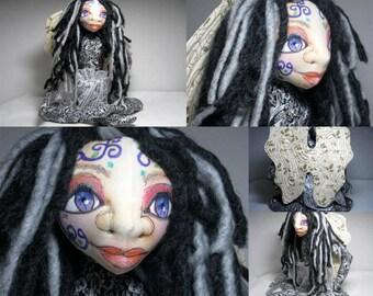 Yoga Art Doll, Wild Child Fairy Faery OOAK Cloth Art Doll