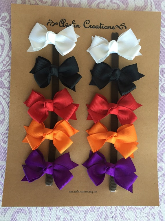 You CHOOSE Colors--10 Small Classic Pigtail Bows--You SAVE 2 dollars off regular price--getting 1 bow FREE