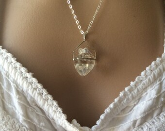 Herkimer Diamond, Herkimer Diamond Necklace, Herkimer Diamond Pendant,Herkimer Diamond Jewelry