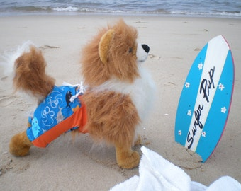 DOG SWIMMING TRUNKS, Dog Under the sea Swim Trunks, Dog swimm wear, Summer beach clothes