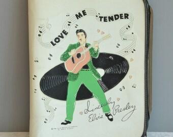 RARE Elvis Presley School Binder 1956 EPE Vinyl School Binder 1956 Elvis Collectible Love Me Tender Collectible