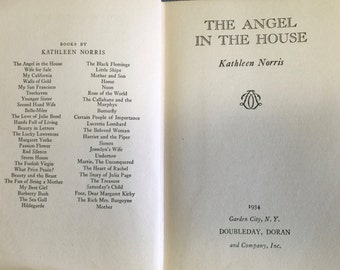 The Angel in the House by Kathleen Norris, Doubleday, Doran and Co., Inc. 1934