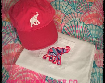 Republican Appliqued Pocket Tee and Hat Gift Set