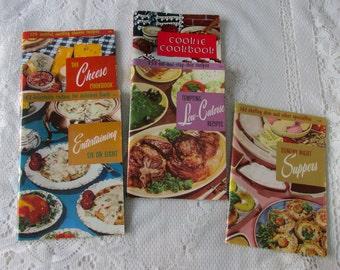 5 Vintage Cookbooks; Culinary Arts Institute and Favorite Recipes Press
