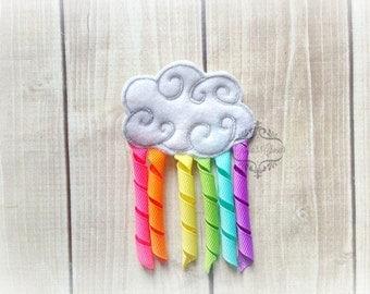 Rainbow Ribbon Cloud hair clip Korker clip Cloud Korker hair clip. Pick Left side or Right.