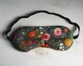 Dreaming in the Garden Sleepmask Floral Green Sleep Mask Travel Mask Spa & Relaxation Eye Rice Lavender Sleep Mask
