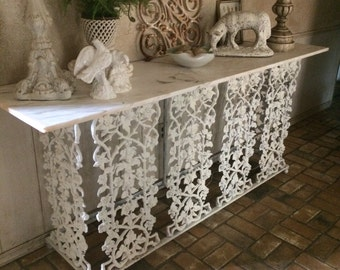 Gorgeous Cast Iron Console Table Cast Iron Table Antique Garden Table