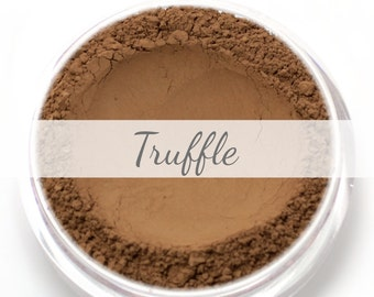"Mineral Wonder Powder Foundation Sample - ""Truffle"" - very dark shade with a warm to neutral undertone - vegan makeup"