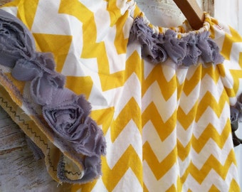 Boho Mustard Chevron Dress Ellie Ann and Lucy