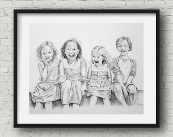 18x24 custom pencil portrait by pierre Bolouvi original art