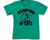 kids camping shirt gift for boy scouts t-shirt funny camp tshirt boys in-tents camping is intents humor humorous joke small medium large xl