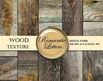 SALE Digital Paper Wood Texture Scrapbooking digital paper pack old wood background newborn  photography backdrops