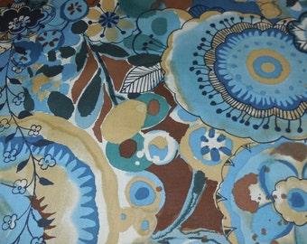 Larkspur Meadow / Indigo - Floral Alexander Henry Fabric 1 Yard
