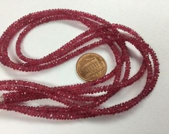 Natural Pink Spinel Rondelles Faceted