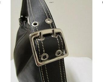 Gorgeous Vintage Wilsons Leather Black Shoulder Handbag