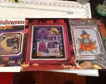 HALLOWEEN - Lot of 3 - Cross Stitch Patterns Only