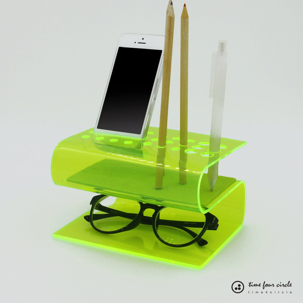 Organizer desk system iphone 6 6plus iphone se 5 5c 5s - Acrylic desk organizer set ...