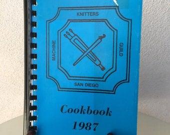 Vintage regional cookbook 1987 San Diego Knitters Guild Paperback