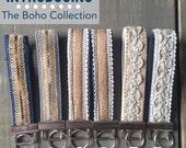 Boho Keychain, Wristlet Key Fob, Lace Keychain, Fabric Key Fob, Wrist Lanyard, Key Fob | BOHO COLLECTION