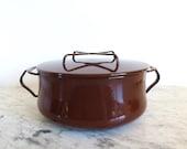 RESERVED Dansk Kobenstyle Medium Pot Dutch Oven Brown 3 Quart