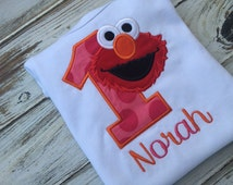 Elmo Birthday shirt , Elmo shirt , 1st birthday shirt , 2nd birthday shirt , 3rd birthday shirt, girls Elmo birthday onesie, Elmo onesie