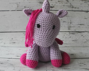 Lavender the Unicorn, Crochet Unicorn Stuffed Animal, Unicorn Amigurumi, Plush Animal, MADE TO ORDER