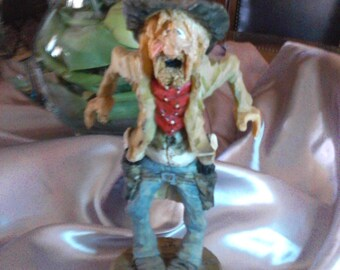"""SPIT AND WHITTLE"""" do you feel lucky punk"""" statue,signed,great gift 1990""""s"""