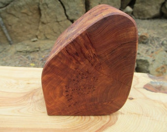 Natural Wood Burl Memorial Keepsake or Pet Urn