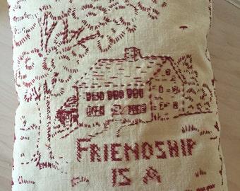 Vintage Handmade Pillow