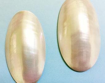 Nautilus Shell Oval Cabochons (2 pcs.)