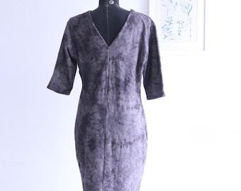 SALE / Vintge 90s gray tye dye dress dress/ short sleeve summer dress/ Mini dress/ Party dress
