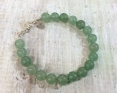 Green Aventurine Gemstone Bracelet - LOVE & WELL BEING - 4th Chakra Zen Jewelry - Positive Energy Jewelry