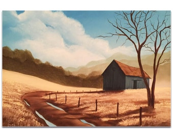 Western Painting 'Prairie Life' by Elaine Reiter - Rustic Decor Old West Artwork on Metal or Acrylic