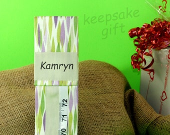 PERSONALIZED BABY GIFT - Girl's Room - Keepsake Growth Chart