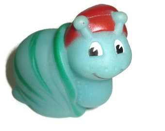 Vintage fake glo friend glow snail green and red 1980s 80s toys