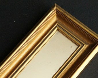 Vintage Accent Wall Mirror Mid Century Long Rectangle Hollywood Regency Decorative