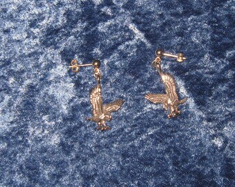Sterling Silver Eagle Earrings on Sterling Silver Posts