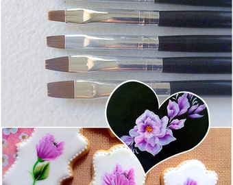 Brush set for cake and cookie decorating