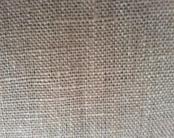 100% pure linen, brown, medium weight, opaque