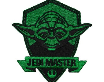 "Yoda ""Jedi Master"" Patch Light Side Force Badge Star Wars Fan Iron-On Applique"